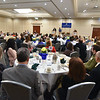 North Central Chamber of Commerce listens to speakers at the annual Chamber of Commerce scholarship awards breakfast held at the Double Tree in Leominster on Friday morning.  SENTINEL & ENTERPRISE JEFF PORTER