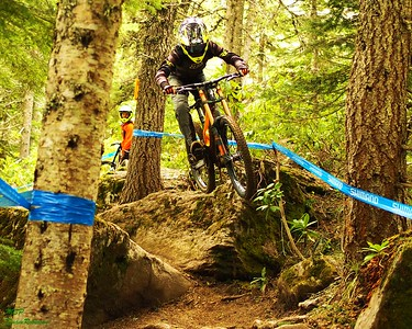 Declan flying through the lower rock garden at Mt. Hood 2017. by MSP