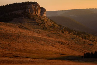 DA099,DT,Sunrise in the Bighorn Mountains Wyoming