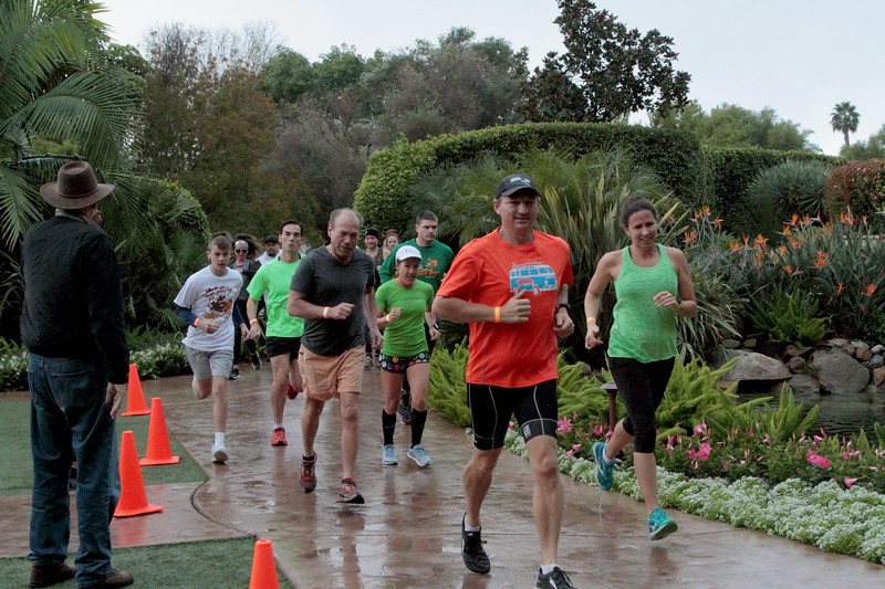 Turkey Trot participants enjoy the course as they move through the Grand Tradition grounds and gardens, Thanksgiving morning, Nov. 22. The annual fundraiser is put on by Fallbrook Village Rotary.  Christine Rinaldi photos