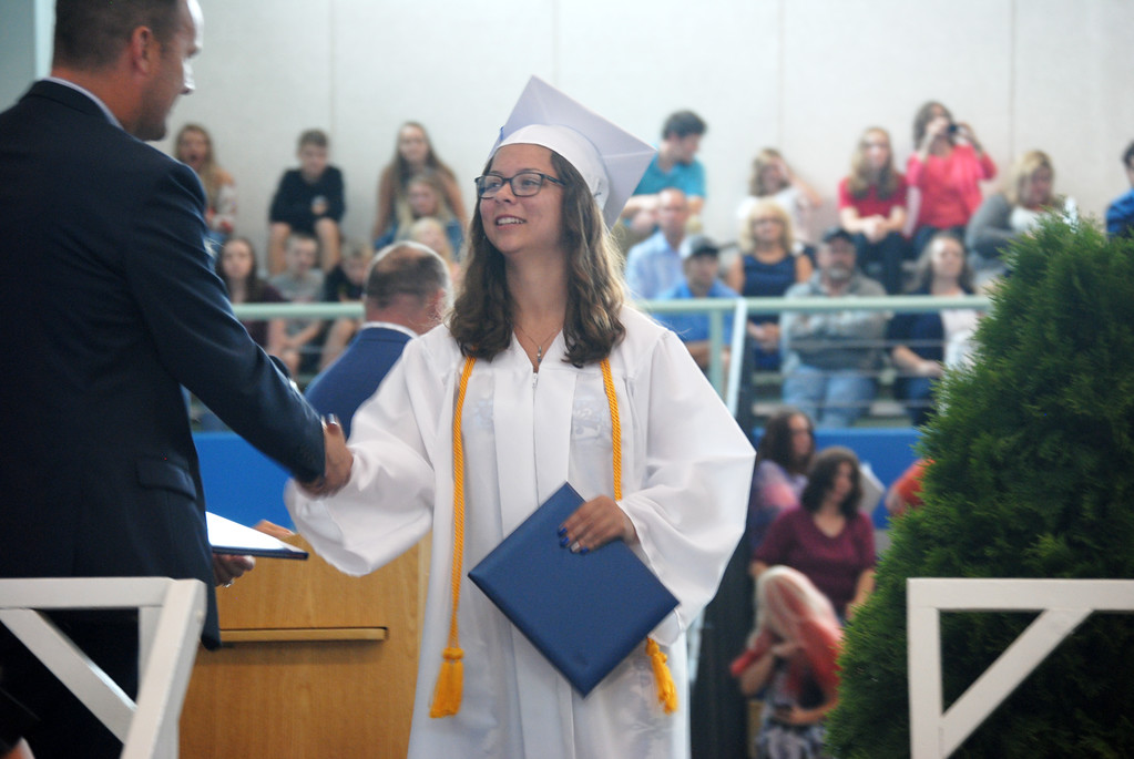 . Leah McDonald - Oneida Daily Dispatch The Oneida High School Class of 2018 Commencement ceremonies at the high school on Saturday, June 23, 2018.