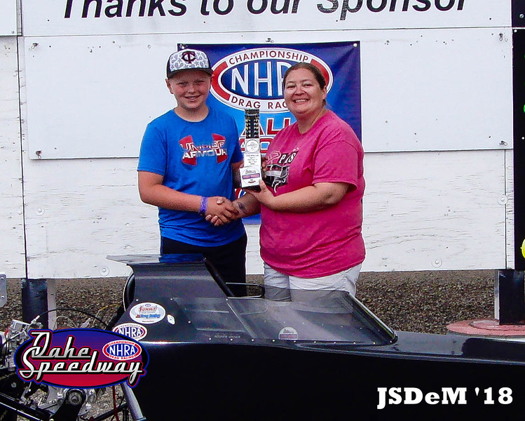Tommy Stickelmyer, Aberdeen, SD - Winner - Aberdeen Wings Junior Minor Pepsi Points Race #4