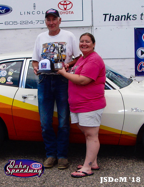 Duane Soper, Gettysburg, SD - Winner - Oahe Speedway Street Trophy Pepsi Points Race #4 & 2018 NHRA All Access Challenge Street Trophy Champion