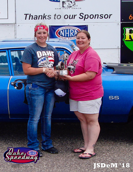 Hayley DePoy, Lantry, SD - Winner - SnapOn High School Pepsi Points Race #5 & 2018 NHRA All Access Challenge High School Champion