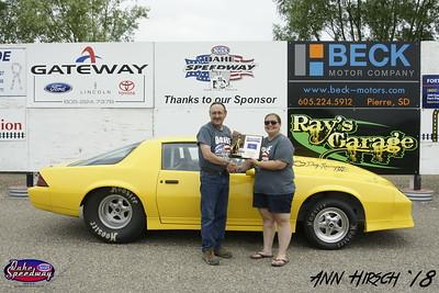 Jay Tjeerdsma, Springfield, SD - Winner -Oahe Speedway Watty's Garage Pro ET Pepsi Points Race #6 and South Dakota Drag Racing Championship -  Pro ET