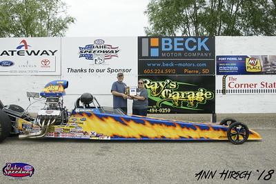 Joe Wolf, Pierre, SD - Winner -Dale's Repair Super Pro Pepsi Points Race #6 and South Dakota Drag Racing Championship - Super Pro