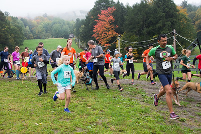 The Lucy Mac 5K9 runners start the 8th annual race to raise money for the Lucy Mackenzie Humane Society in West Windsor. Nancy Nutile-McMenemy photograph.