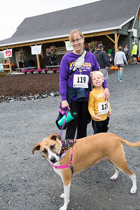 Brittany and Jace Preston with Maple signed up for the 1 mile run. Nancy Nutile-McMenemy photograph.