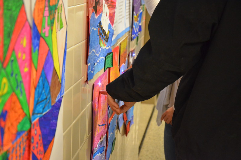 Leah McDonald - Oneida Daily Dispatch Student art on display at the Oneida City School District's district-wide art show at Otto Shortell Middle School on Tuesday, March 20, 2018. The show runs until April.