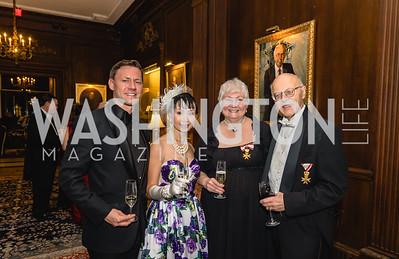 Wendy Wang, Lukas Klotzsche, Carol and Herbert Traxler, 2018 Viennese Ball, Nov 10 2018, Elyse Cosgrove.ARW