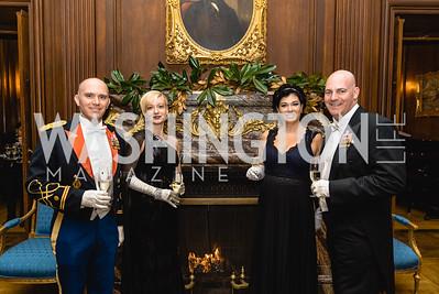 Major Michael Marin, Laura Lubinksi, Lorraine Fritz, Clarke Cooper, 2018 Viennese Ball, Nov 10 2018, Elyse Cosgrove.ARW