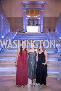 Alanna Reeves, Georgie Payne, Valerie Wiseman,  15th Annual Transformer Silent Art Auction and Benefit Party, November 17, 2018.  Photo by Ben Droz.