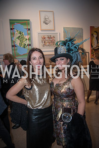 Anita Sharma, Sena Fitzmaurice,  15th Annual Transformer Silent Art Auction and Benefit Party, November 17, 2018.  Photo by Ben Droz.