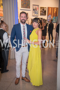 Lee-Anne Zinetti, Andrew McIntyre,  15th Annual Transformer Silent Art Auction and Benefit Party, November 17, 2018.  Photo by Ben Droz.