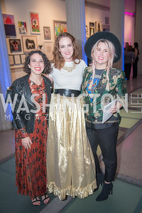 Nina Caccioppoli O'Neil, Kate Goodall, Morgan West,  15th Annual Transformer Silent Art Auction and Benefit Party, November 17, 2018.  Photo by Ben Droz.