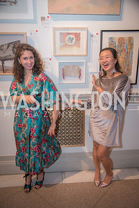 Nicole Dowd, Chloe Bensahel,  15th Annual Transformer Silent Art Auction and Benefit Party, November 17, 2018.  Photo by Ben Droz.
