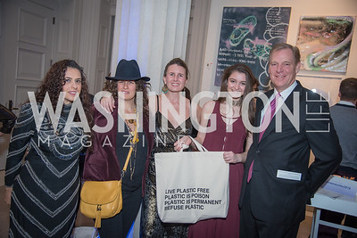 Garance Franke Ruta, Julia Cohen, Summer Coish, Charlotte Weir, Will Shafroth,  15th Annual Transformer Silent Art Auction and Benefit Party, November 17, 2018.  Photo by Ben Droz.