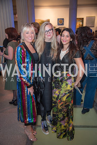Maggie O'Neill, Christy Schlesinger, Dominique Fierro, 15th Annual Transformer Silent Art Auction and Benefit Party, November 17, 2018.  Photo by Ben Droz.