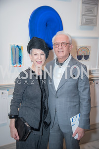 Irene Roth, Vicken Poochikian,  15th Annual Transformer Silent Art Auction and Benefit Party, November 17, 2018.  Photo by Ben Droz.