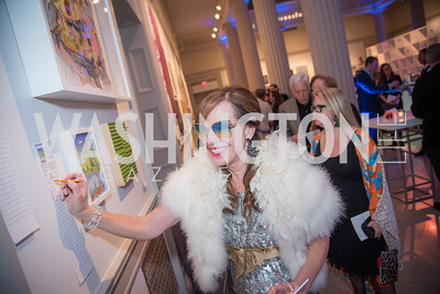 Carole Feld, 15th Annual Transformer Silent Art Auction and Benefit Party, November 17, 2018.  Photo by Ben Droz.