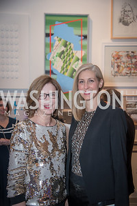 Rachel Rodman, Theresa Shanahan,  15th Annual Transformer Silent Art Auction and Benefit Party, November 17, 2018.  Photo by Ben Droz.