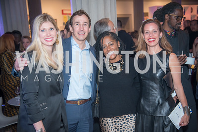 Amy Kuhnert, Josh Kuhnert, Sylvia White, Alexia von Lipsey,  15th Annual Transformer Silent Art Auction and Benefit Party, November 17, 2018.  Photo by Ben Droz.