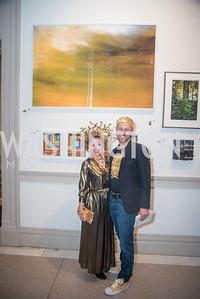 Mel Burnett, Jason Burnett,  15th Annual Transformer Silent Art Auction and Benefit Party, November 17, 2018.  Photo by Ben Droz.