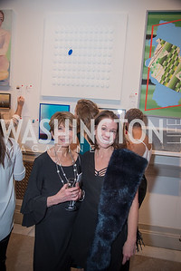 Donna Evers, Andrea Evers,  15th Annual Transformer Silent Art Auction and Benefit Party, November 17, 2018.  Photo by Ben Droz.