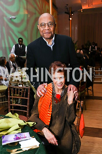 Jim Hudson and Anne Ashmore Hudson. Photo by Tony Powell. 2018 Alvin Ailey DC Gala. Kennedy Center. February 6, 2018