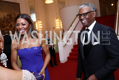 Sela and Art Collins. Photo by Tony Powell. 2018 Alvin Ailey DC Gala. Kennedy Center. February 6, 2018