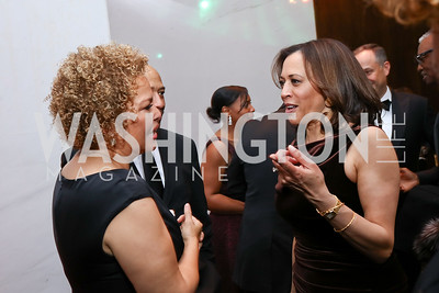 Debra Lee, Sen. Kamala Harris. Photo by Tony Powell. 2018 Alvin Ailey DC Gala. Kennedy Center. February 6, 2018