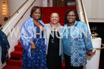 Alicia Batts, Marilyn Charity, Judith Batts. Photo by Tony Powell. 2018 Alvin Ailey DC Gala. Kennedy Center. February 6, 2018