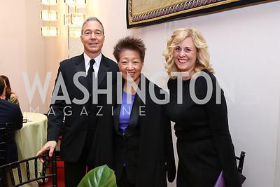 Christopher Zunner, Jane Chu, Kimberly Watson. Photo by Tony Powell. 2018 Alvin Ailey DC Gala. Kennedy Center. February 6, 2018