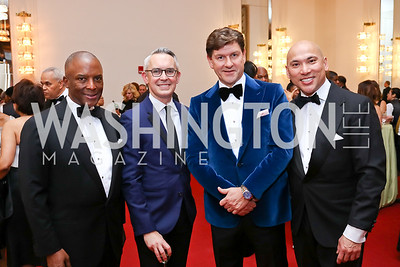 Christopher Womack, Bennett Rink, Lyndon Boozer, John Tinpe. Photo by Tony Powell. 2018 Alvin Ailey DC Gala. Kennedy Center. February 6, 2018