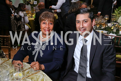 Rep. Eddie Bernice Johnson, Neal Patel. Photo by Tony Powell. 2018 Alvin Ailey DC Gala. Kennedy Center. February 6, 2018