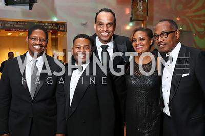 William Clyburn, Alix Dejean, Ed Hubbard, Chinyere Hubbard, Yelberton Watkins. Photo by Tony Powell. 2018 Alvin Ailey DC Gala. Kennedy Center. February 6, 2018