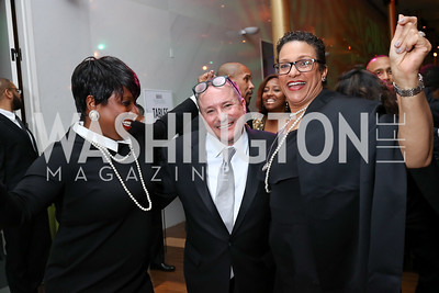 Monica Thompson, Daren Thomas, Debbi Jarvis. Photo by Tony Powell. 2018 Alvin Ailey DC Gala. Kennedy Center. February 6, 2018