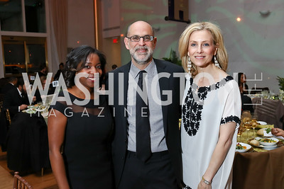 Heather Foster, Robert Raben, Katherine Bradley. Photo by Tony Powell. 2018 Alvin Ailey DC Gala. Kennedy Center. February 6, 2018