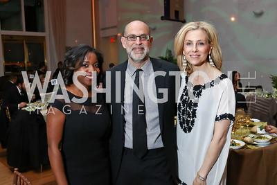 Heather Foster, Robert Raben, Katherine Bradley. Photo by Tony Powell. 2018 Alvin Ailey DC Gala. Kennedy Center. February 6, 2018