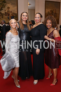 Lucia Riddle, Ganesha Martin, Nicole Venable, Gina Adams. Photo by Tony Powell. 2018 Alvin Ailey DC Gala. Kennedy Center. February 6, 2018