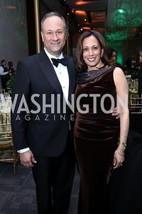 Doug Emhoff and Sen. Kamala Harris. Photo by Tony Powell. 2018 Alvin Ailey DC Gala. Kennedy Center. February 6, 2018