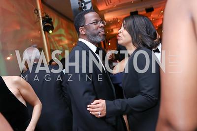 Merwyn Scott and Necole Scott. Photo by Tony Powell. 2018 Alvin Ailey DC Gala. Kennedy Center. February 6, 2018