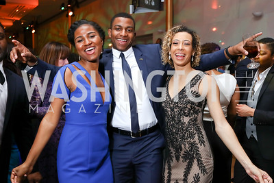 Ryan Jackson, Amos Jackson, Shanti Proctor. Photo by Tony Powell. 2018 Alvin Ailey DC Gala. Kennedy Center. February 6, 2018