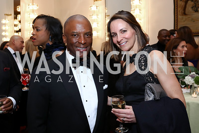 Christopher Womack, Jeanne Wolak. Photo by Tony Powell. 2018 Alvin Ailey DC Gala. Kennedy Center. February 6, 2018