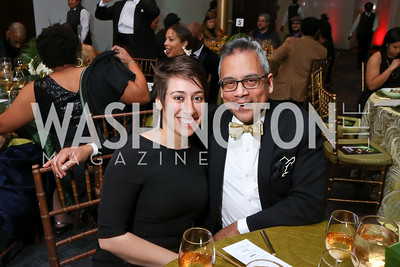 Roya Abab, AAADT Company Manager Gary Stuart. Photo by Tony Powell. 2018 Alvin Ailey DC Gala. Kennedy Center. February 6, 2018