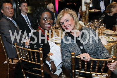 Khady Kamara, Linda Sterlacci. Photo by Tony Powell. 2018 Arena Stage Wine Auction. October 26, 2018