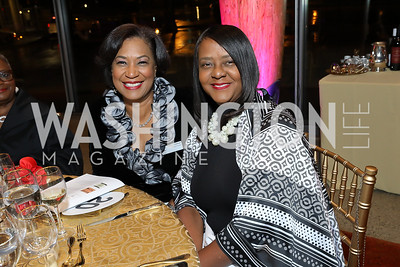 Angela Moody, Lavern Chatman. Photo by Tony Powell. 2018 Arena Stage Wine Auction. October 26, 2018