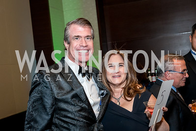 Scott Stewart, Lisa Zuccari. Photo by Tony Powell. 2018 Capital Caring Gala. Marriott Marquis. November 17, 2018