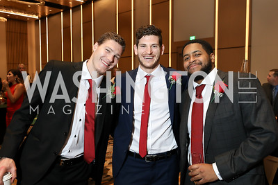 Dmitrij Jaskin, Nic Dowd, Devante Smith-Pelly. Photo by Tony Powell. 2018 Capitals Casino Night II. MGM. October 14, 2018