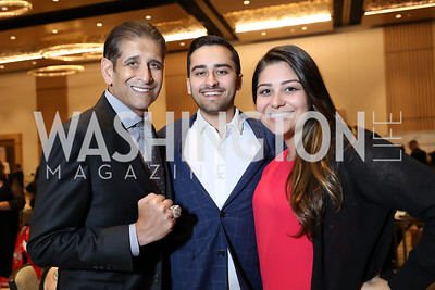 Roger, Zack and Erika Mody. Photo by Tony Powell. 2018 Capitals Casino Night II. MGM. October 14, 2018